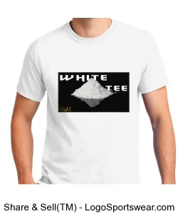 White Tee T Shirt by Michael Khora Clothing Design Zoom